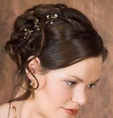 Весільна зачіска французький твіст