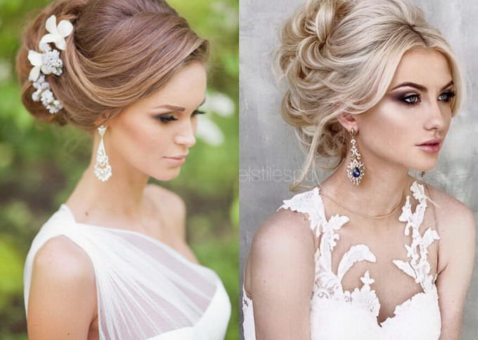 прически на свадьбу подружке невесты на средние волосы с челкой
